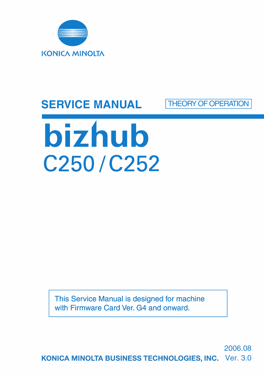Konica-Minolta bizhub C250 C252 THEORY-OPERATION Service Manual-1